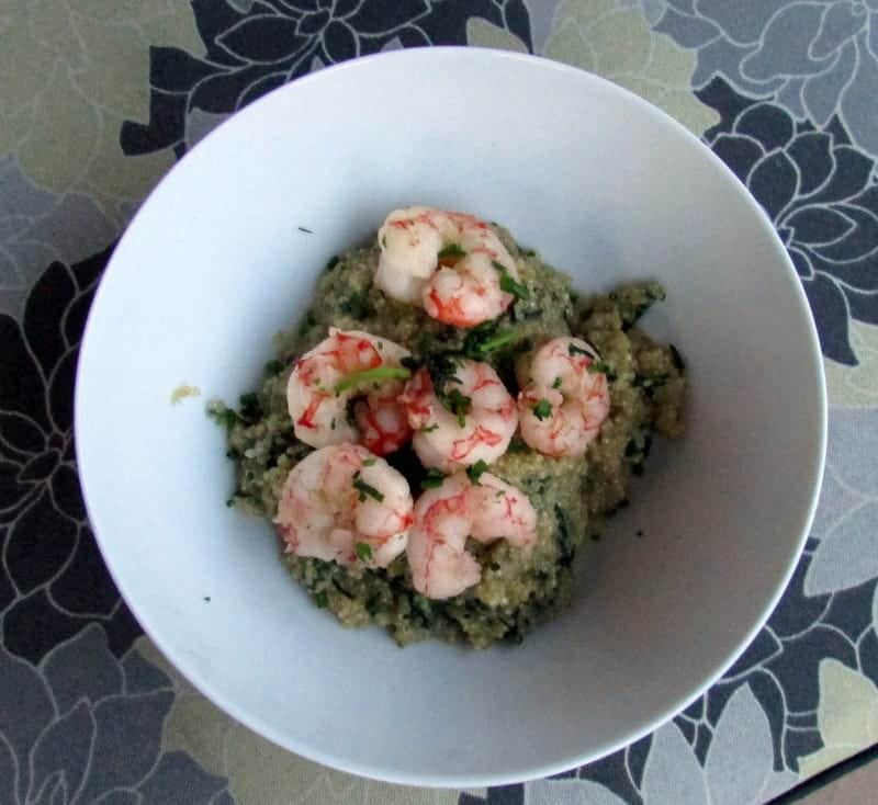 1-IMG_2530Quinoa Shrimp Risotto via Treble in the Kitchen low FODMAP