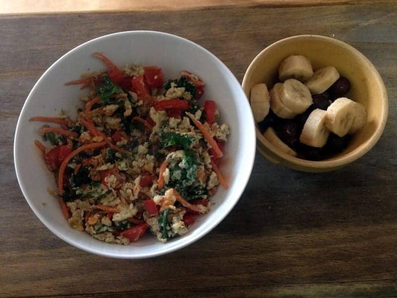 Veggie breakfast scramble