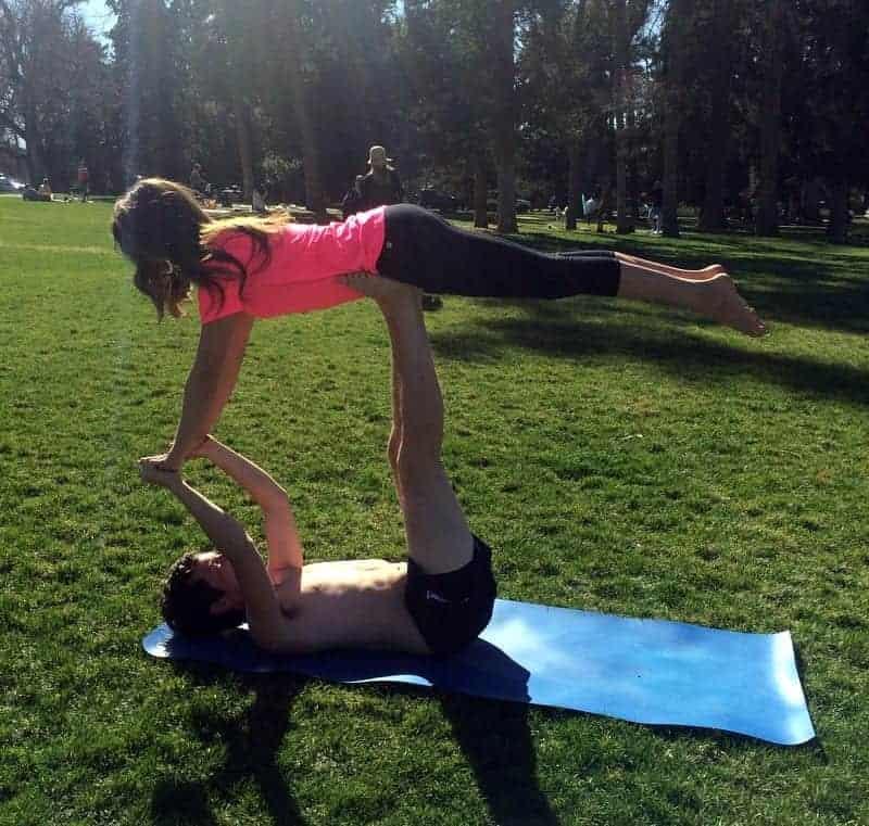 tara and brian acro yoga