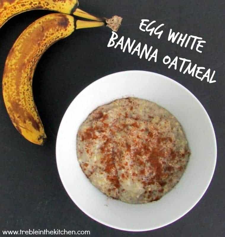 Egg White Banana Oatmeal via Treble in the Kitchen