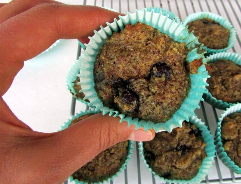 Blueberry Almond Muffins via Treble in the Kitchen