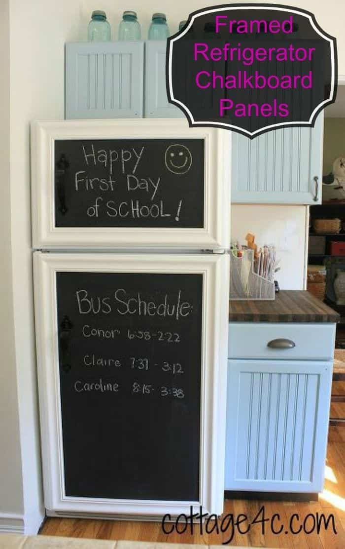 Chalkboard Fridge via Pinterest