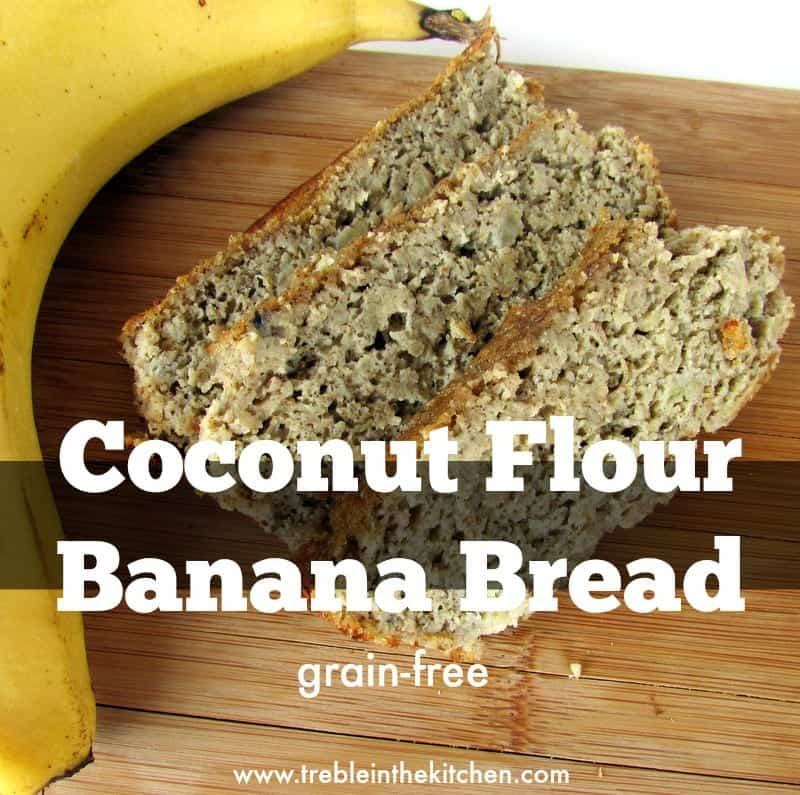 Coconut Flour Banana Bread via Treble in the Kitchen