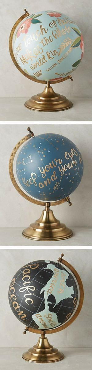 Pretty globe via Pinterest
