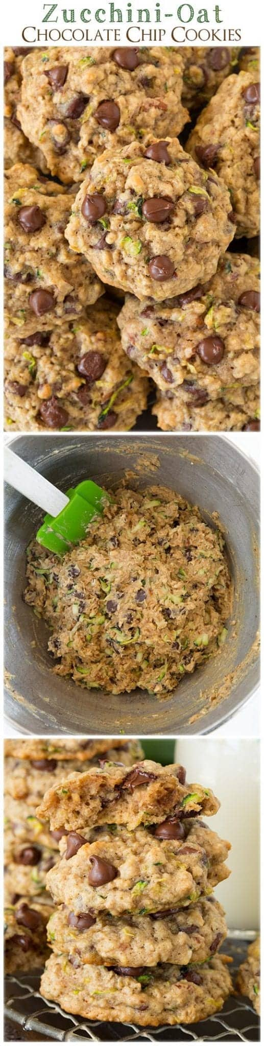 Zucchini Oat Chip Cookies via Pinterest