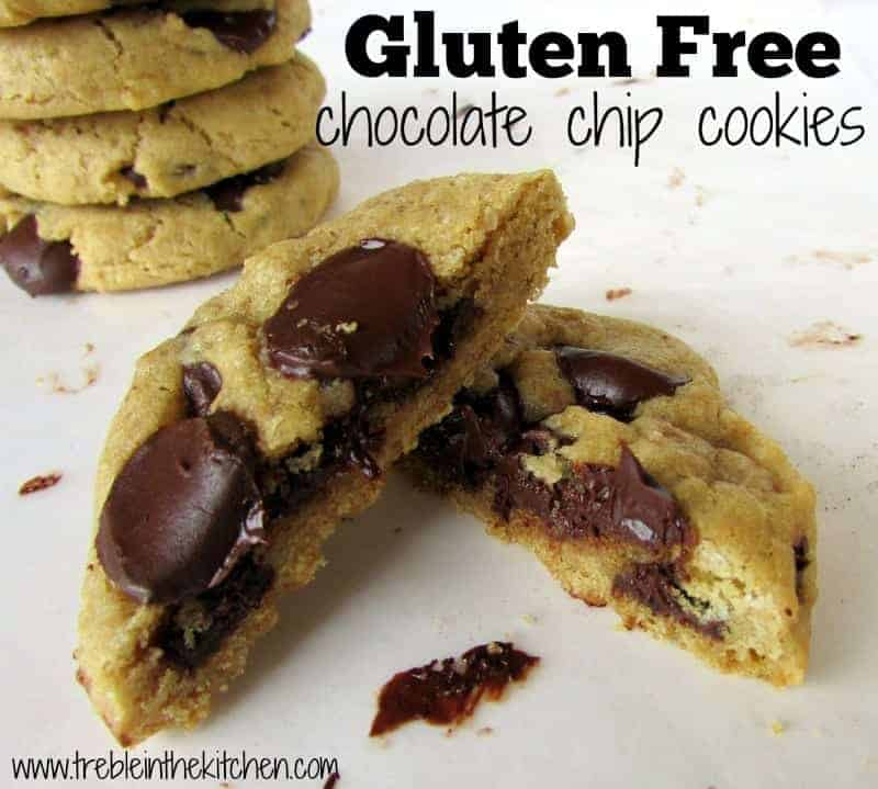 Gluten Free Chocolate Chip Cookies with Rice Flour via Treble in the Kitchen