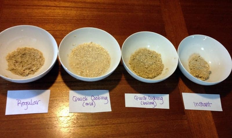 Oatmeal Taste Testing RD program