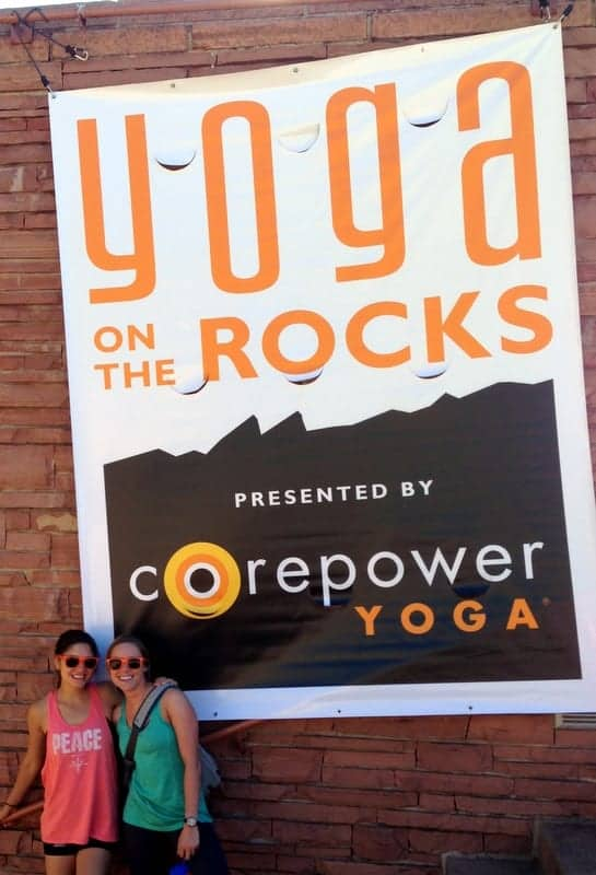CorePower Yoga on the Rocks via Treble in the Kitchen