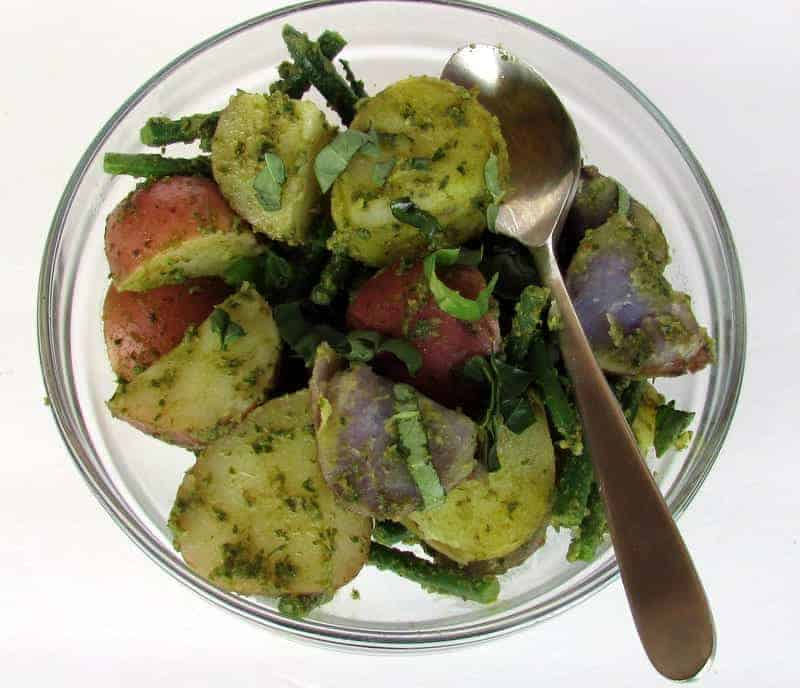 Pesto Potato Salad from Treble in the Kitchen