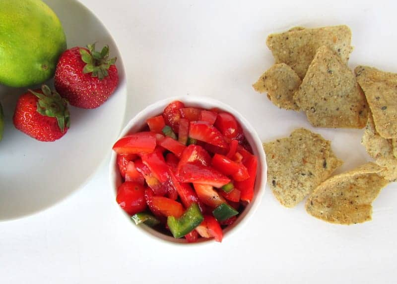 Strawberry Salsa from Treble in the Kitchen