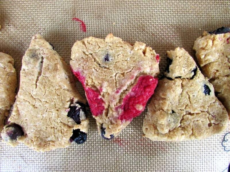 Berry Scones (gluten free, grain free, paleo friendly) from Treble in the Kitchen