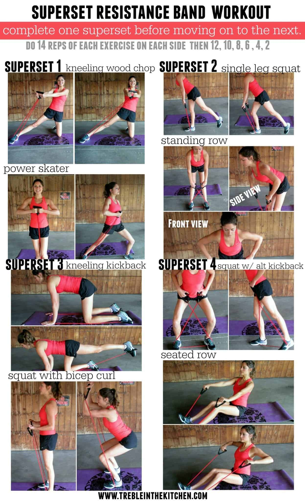Superset Resistance Band Workout | Treble in the Kitchen