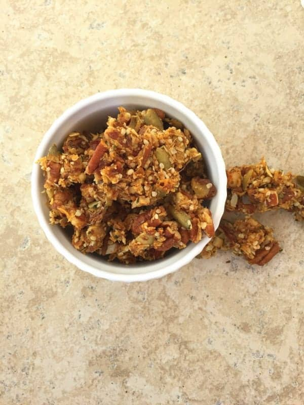 Nutty Pumpkin Spice Granola from Treble in the Kitchen