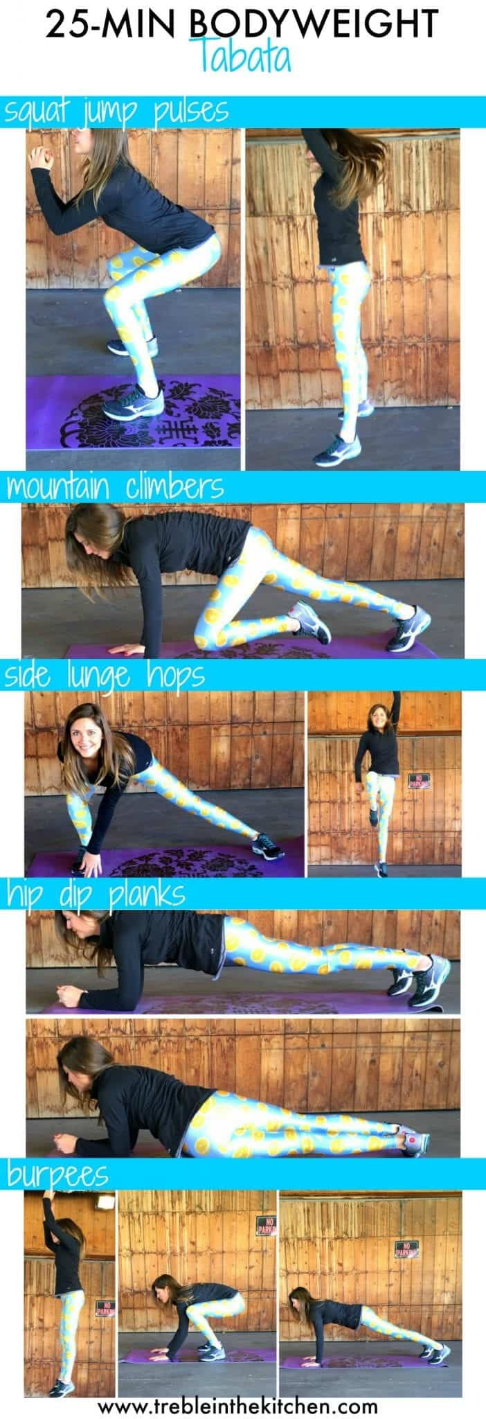 25 min tabata total body workout from treble in the kitchen