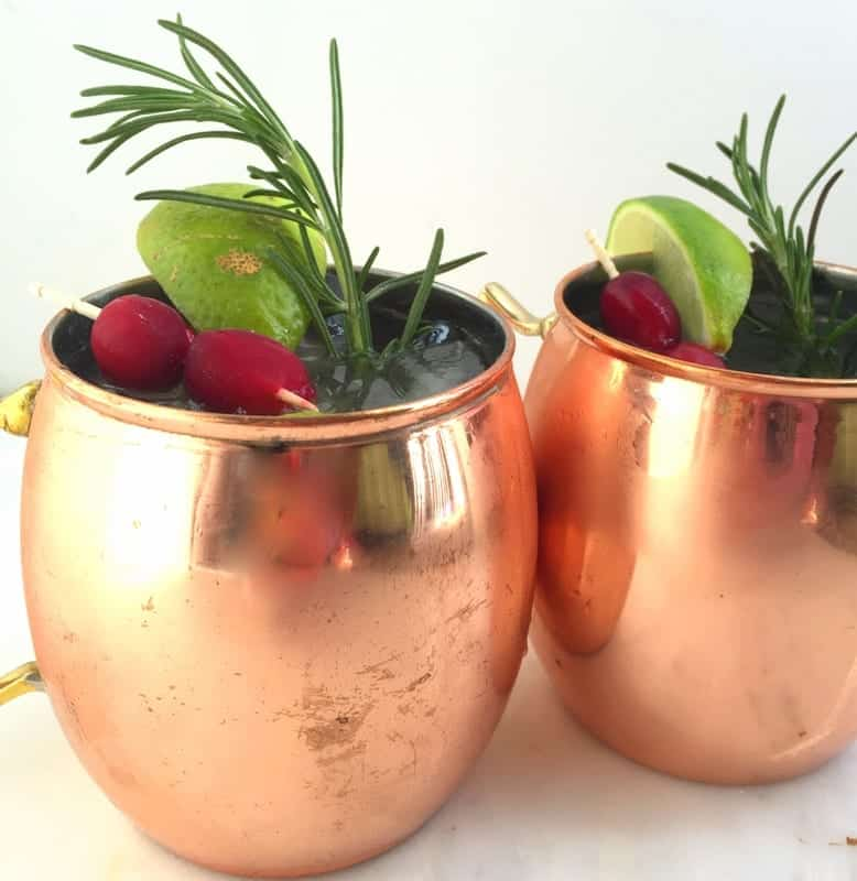 Cranberry Kombucha Mule from Treble in the Kitchen