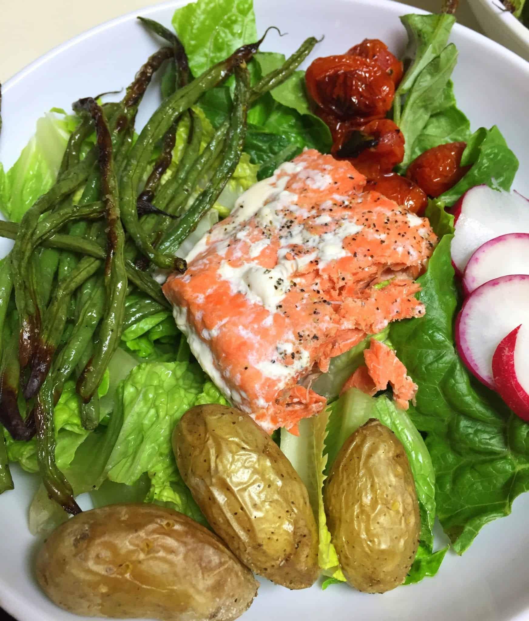 Salmon Nicoisse Salad