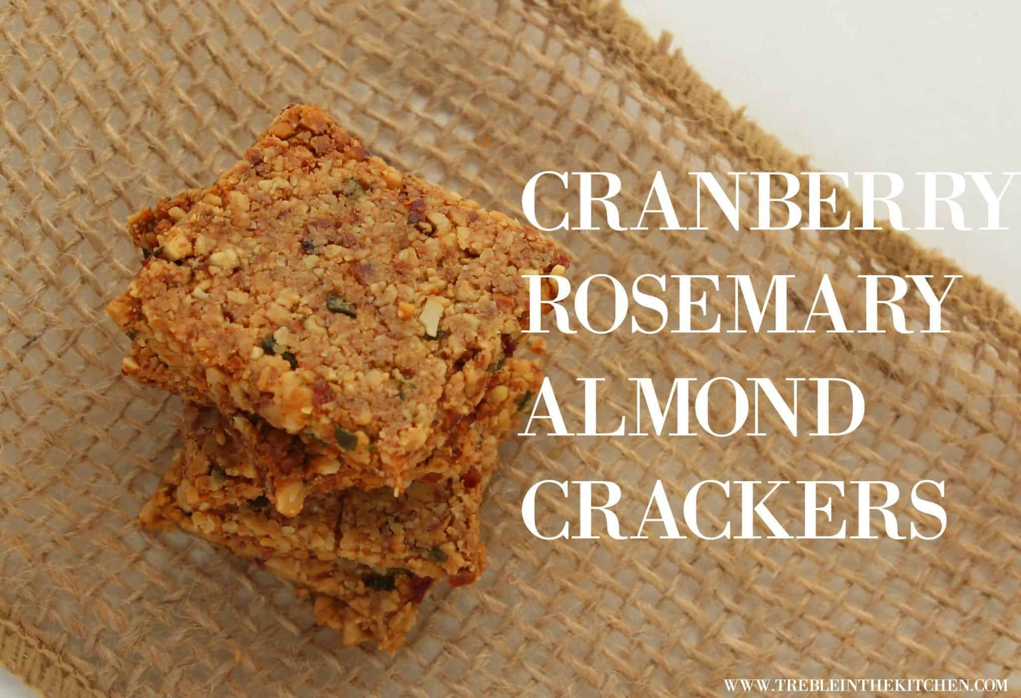 Cranberry Rosemary Almond Crackers from Treble in the Kitchen gluten free, grain free, paleo, vegan