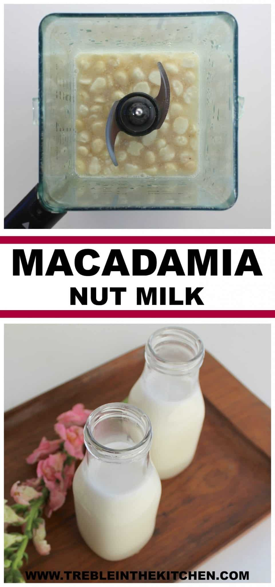 Macadamia nut milk from treble in the kitchen