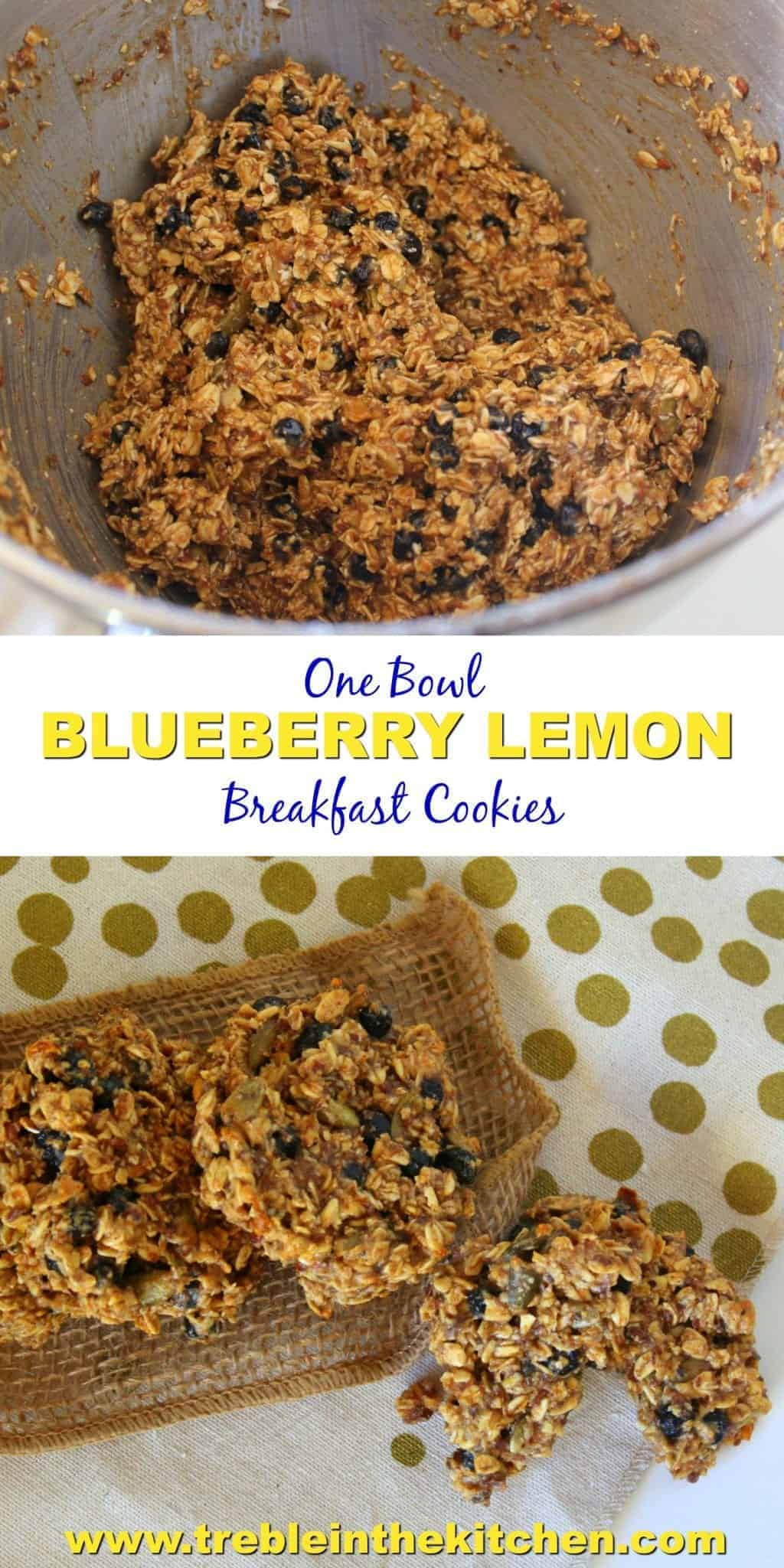 One Bowl Blueberry Lemon Breakfast Cookies from Treble in the Kitchen