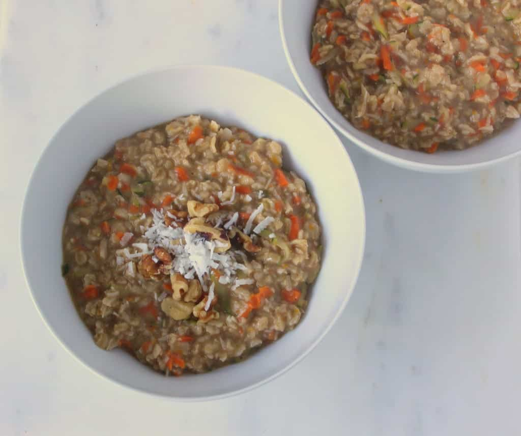Subtly Sweet Morning Glory Oatmeal via Treble in the Kitchen