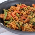 Sweet Potato Noodle Peanut Stir Fry | Treble in the Kitchen