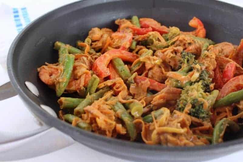 Sweet Potato Noodle Peanut Stir Fry | Treble in the Kitchen