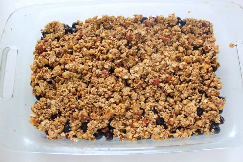 Easy and Delicious Blueberry Crisp from Treble in the Kitchen