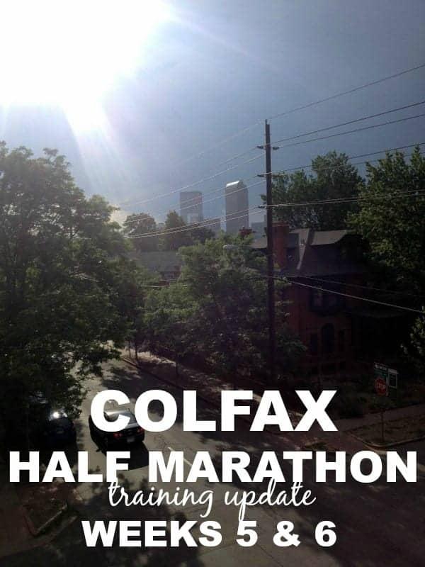 Colfax Half Marathon weeks 5 and 6 via Treble in the Kitchen