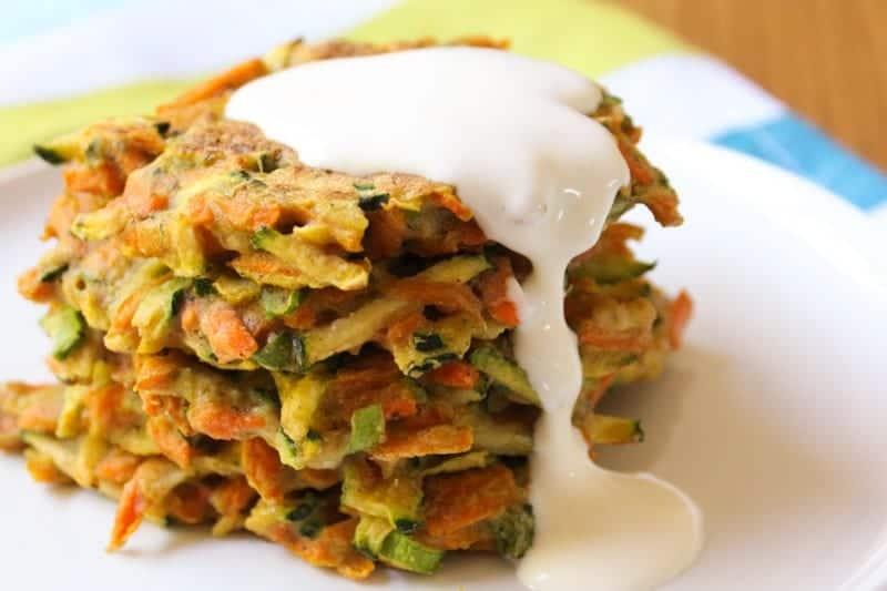 zucchini carrot fritters by a less irritable life