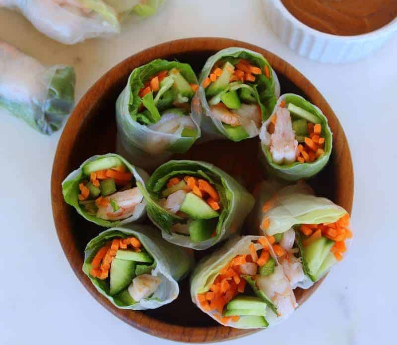 Herbed Summer Rolls from Treble in the Kitchen