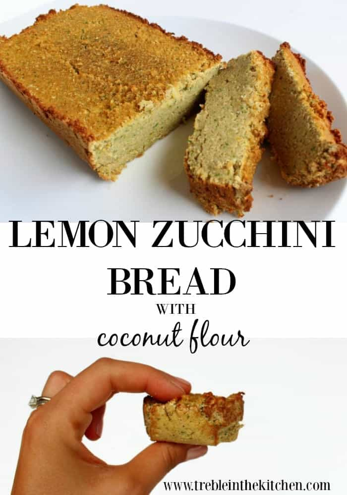 Lemon Zucchini Bread made with Coconut Flour Paleo, Gluten Free, Grain Free