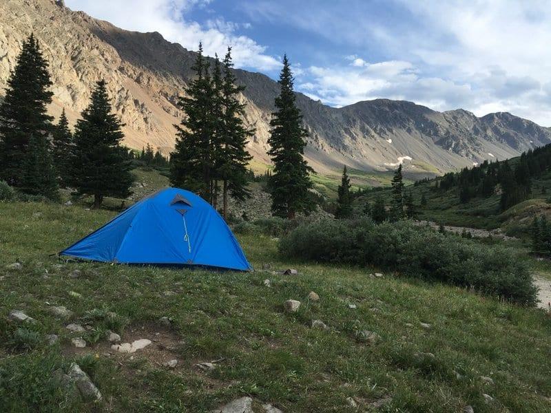 Camping at Grays Peak