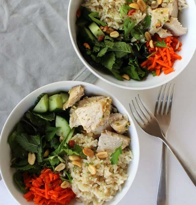 Vietnamese Lemongrass Chicken Bowl from Treble in the Kitchen