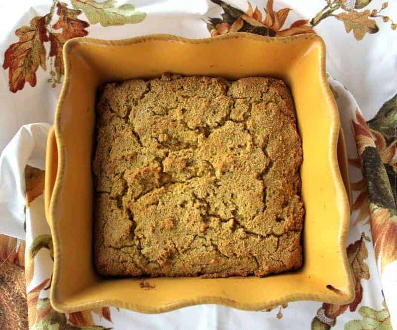 Pumpkin Cornbread from Treble in the Kitchen low FODMAP, gluten free, dairy free