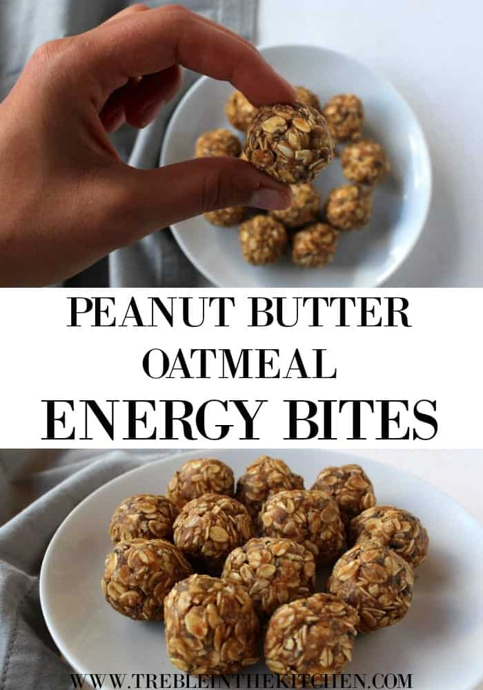 Peanut butter Oatmeal Energy Bites from Treble in the Kitchen low FODMAP, gluten free