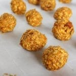 Pumpkin Pecan Snack Bites from Treble in the Kitchen low FODMAP, gluten free, dairy free, vegan