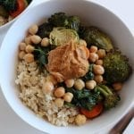 Roasted Veggie and Rice Bowl #Vegan #lowFODMAP #glutenfree