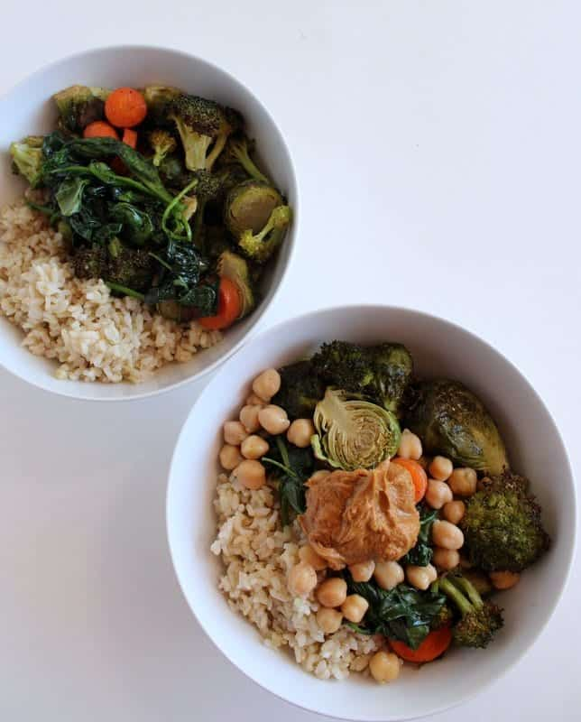 Roasted Veggie and Rice Power Bowl #Vegan #lowFODMAP #glutenfree