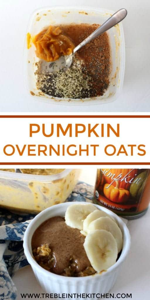 Pumpkin Overnight Oats from Treble in the Kitchen