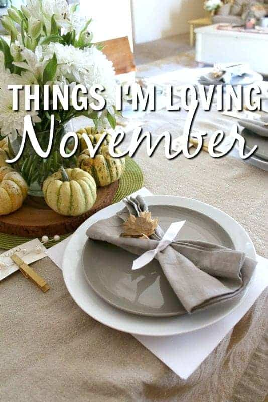 Things I'm Loving November