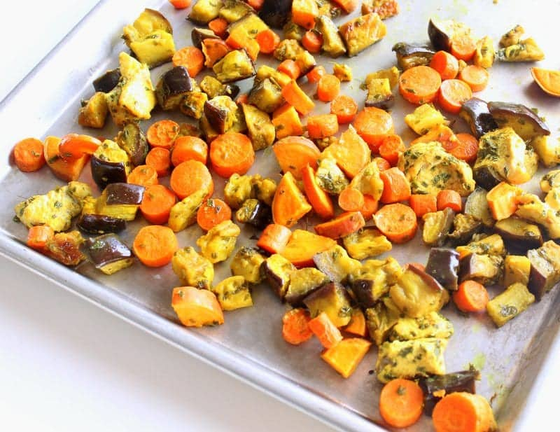 Moroccan Sheet Pan Dinner low FODMAP, gluten free, grain free, paleo, dairy free