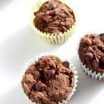 Double Chocolate Muffins low FODMAP, gluten free, dairy free, hidden veggie