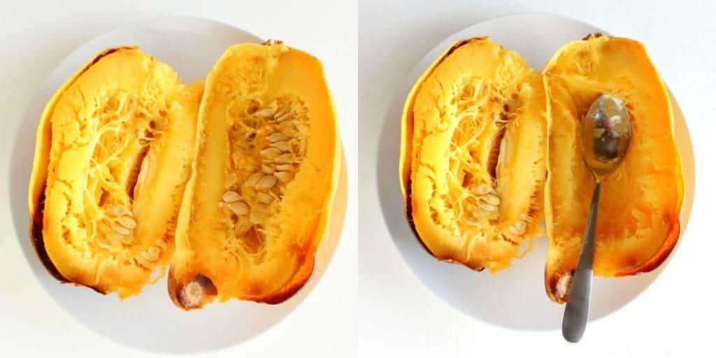 How to Cut and Roast Spaghetti Squash