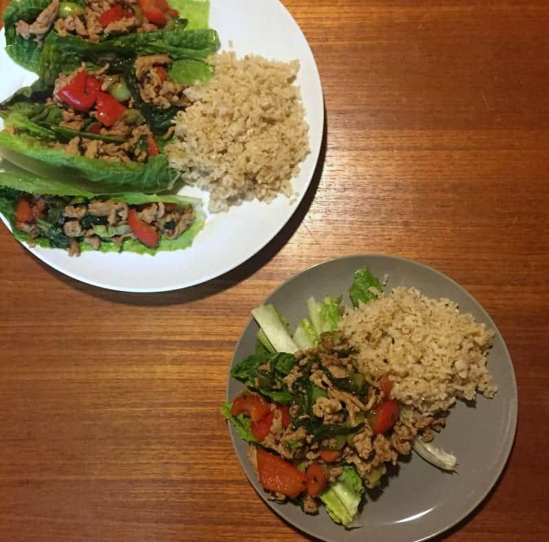 Kate Scarlata Asian Chicken Lettuce Wraps