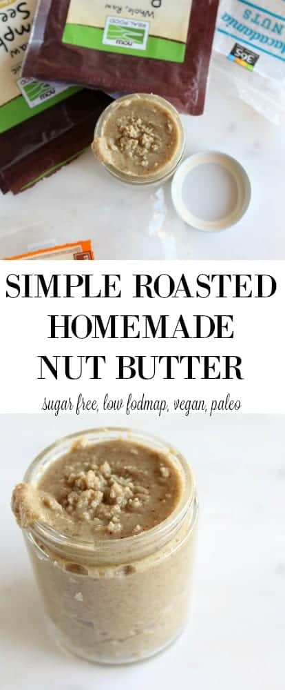 Simple Roasted Nut Butter