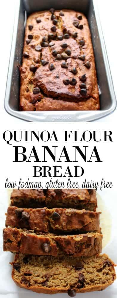 Quinoa Flour Banana Bread low fodmap, gluten free, dairy free