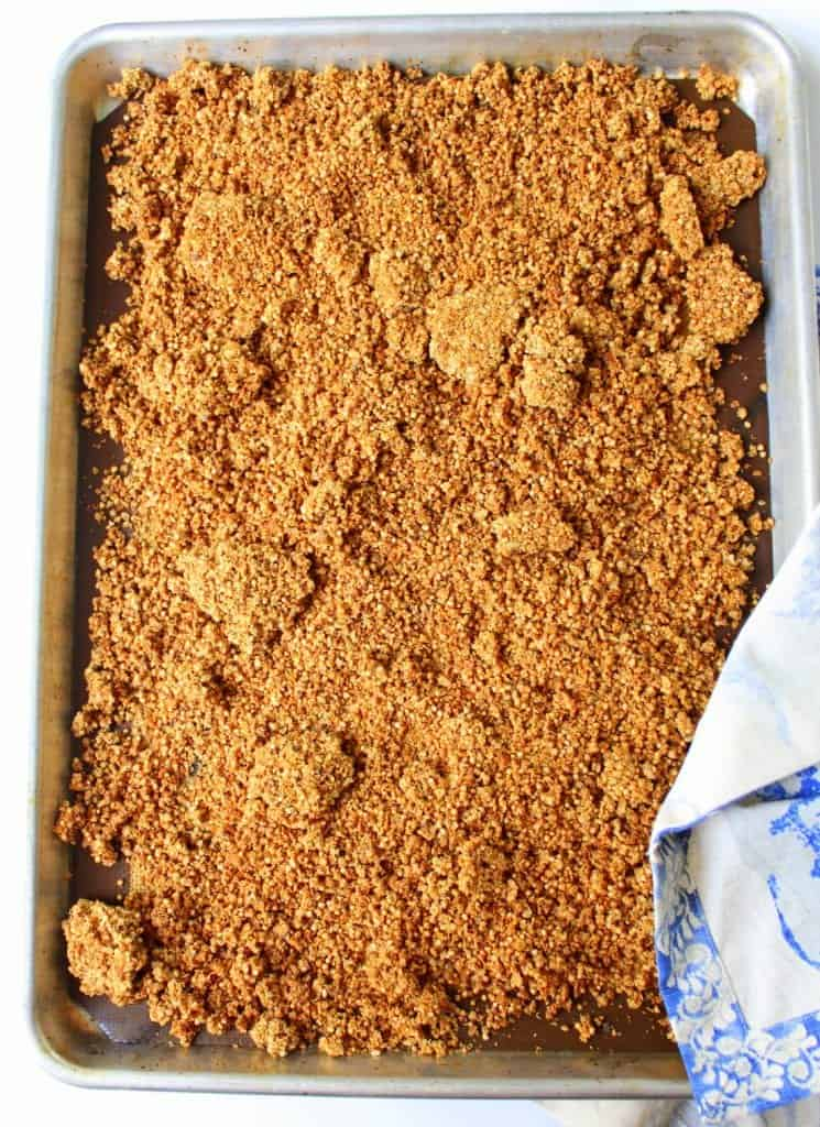 Crispy Quinoa Granola - Low FODMAP, gluten free, dairy free, vegan