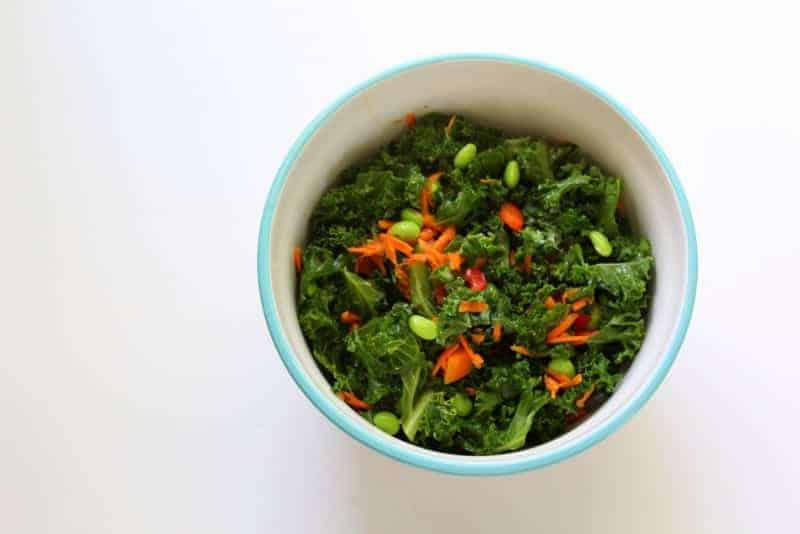 Asian Kale Salad - low FODMAP, gluten free, grain free, dairy free, vegan