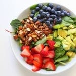 Summer Berry Salad low FODMAP, gluten free, grain free, dairy free
