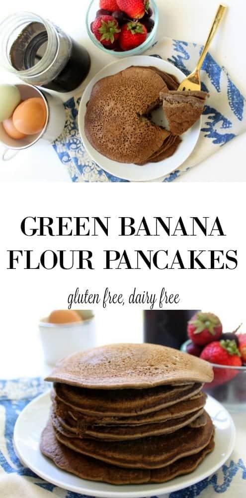 Green Banana Flour Pancakes - low FODMAP, gluten free, dairy free